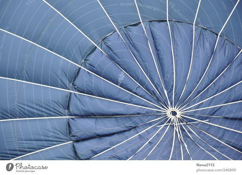 the blue one... Freizeit & Hobby Freiheit Verkehrsmittel Luftverkehr Ballone fliegen rund blau weiß Freude Stoff Stern (Symbol) Kreis Wind Schweben luftig Nylon