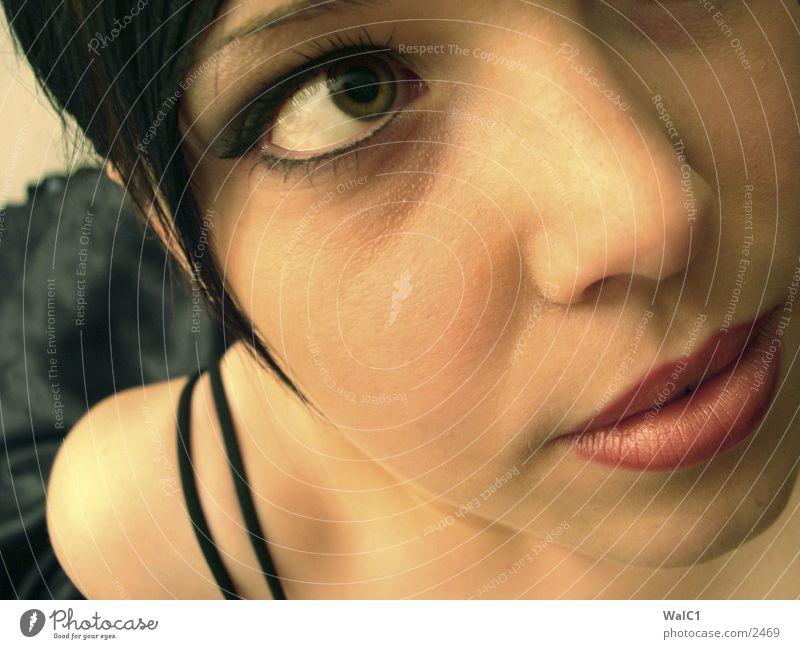 Mädchen 1 Frau Gesicht Auge Haut Unterwäsche BH