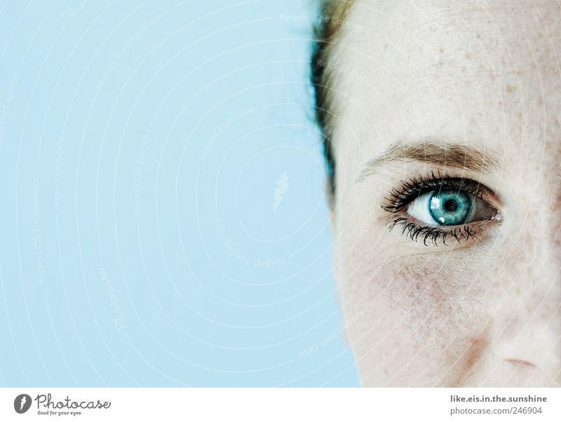 das meer im blick Mensch Frau Jugendliche blau schön Gesicht Erwachsene Erholung feminin blond glänzend Haut Nase frisch außergewöhnlich 18-30 Jahre