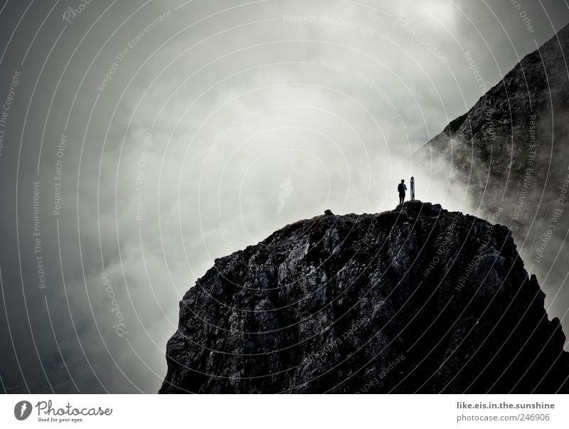 gewaltig Ferien & Urlaub & Reisen Ausflug Abenteuer Ferne Freiheit Berge u. Gebirge wandern Klettern Bergsteigen Landschaft Urelemente Wolken Sommer Klima
