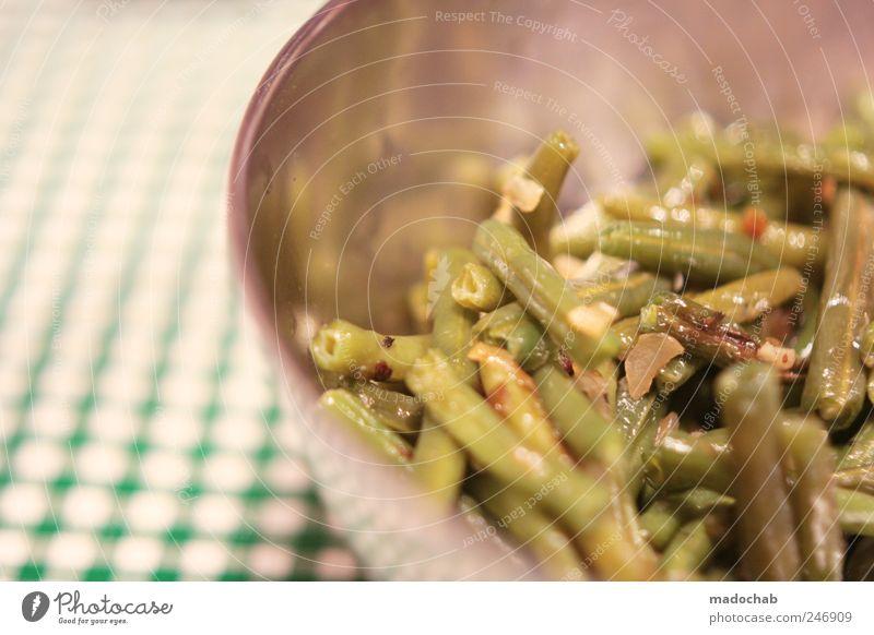 50mm-NonFood Lebensmittel Ernährung Bioprodukte Vegetarische Ernährung Schalen & Schüsseln Ordnung kariert Spießer Bohnen Beilage Gastronomie Farbfoto