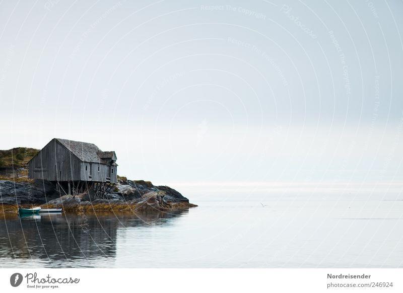 Weitsicht Himmel Natur Wasser Meer ruhig Einsamkeit Haus Ferne Erholung Landschaft Küste Stimmung Regen Wetter Horizont ästhetisch