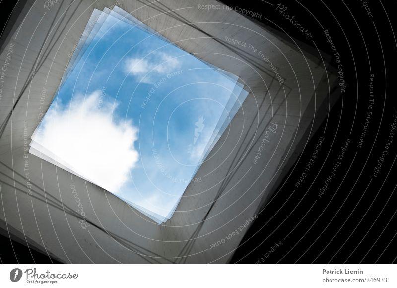 Don´t be light Himmel blau Wolken dunkel Umwelt grau hell Kunst Wetter Ordnung ästhetisch außergewöhnlich Zukunft Urelemente geheimnisvoll entdecken