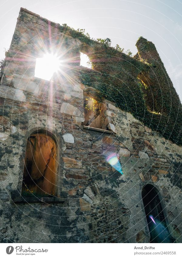Irland - Clifden Castle Ferien & Urlaub & Reisen Ausflug Abenteuer Ferne Himmel Efeu Burg oder Schloss Ruine Mauer Wand Fenster Tür Sehenswürdigkeit kaputt