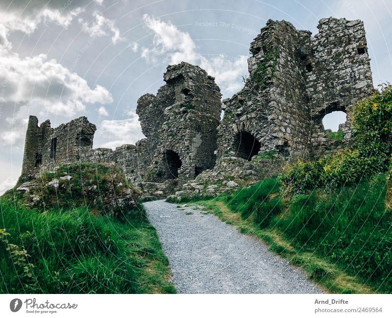 Irland - Rock of Dunamase Ferien & Urlaub & Reisen Tourismus Ausflug Ferne Sightseeing Sommer Sommerurlaub Landschaft Himmel Wolken Frühling Schönes Wetter