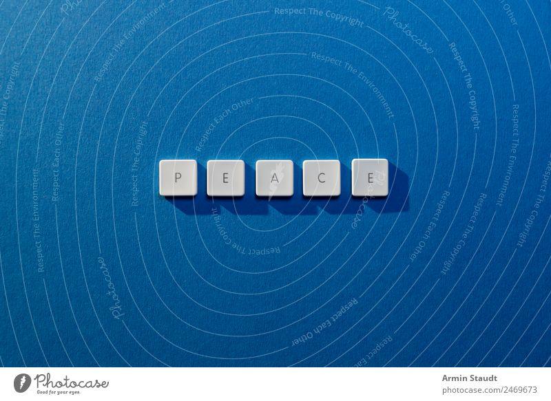 Peace blau weiß Lifestyle Religion & Glaube Stil Design Zufriedenheit Schriftzeichen Kommunizieren Idee bedrohlich Zeichen Hoffnung Sicherheit Frieden
