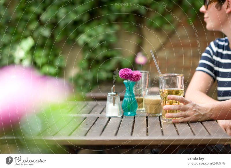 LOHAS & DINKS Frau Jugendliche Sommer Junge Frau Erholung Hand 18-30 Jahre Erwachsene Garten Lifestyle Lebensmittel Wohnung Dekoration & Verzierung Glas