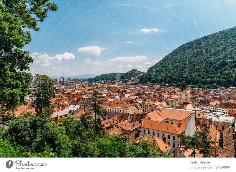 Luftaufnahme der Stadt Brasov in Rumänien brasov Transsilvanien alt Aussicht Ferien & Urlaub & Reisen mittelalterlich Europa Architektur Großstadt Attraktion
