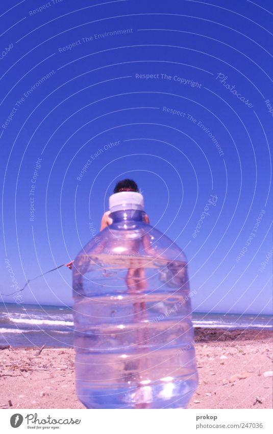 Miss Flaschengeist Frau Mensch Himmel Natur Jugendliche blau schön Sommer Ferien & Urlaub & Reisen Strand Meer feminin Freiheit Landschaft Wärme Erwachsene