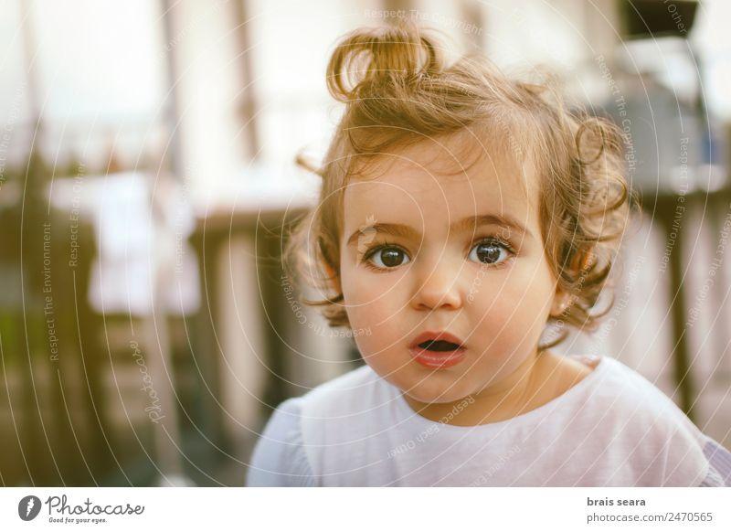 Neugierde Lifestyle Freude Glück schön Gesicht Kindergarten Mensch feminin Baby Kleinkind Mädchen Frau Erwachsene Kindheit Kopf 1 Natur entdecken Lächeln Blick