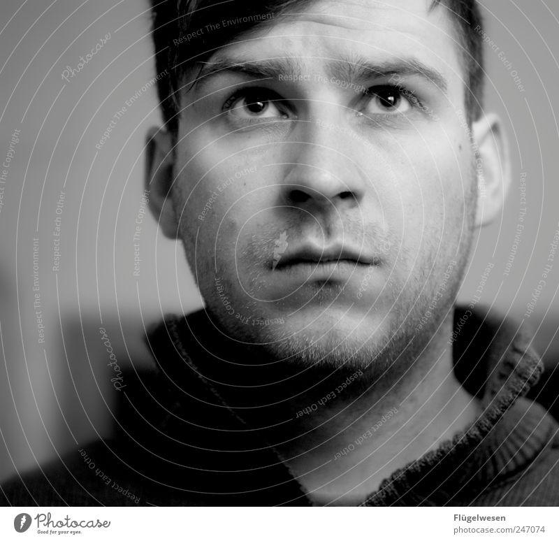 Zukunftsangst Mensch Jugendliche schön Erwachsene dunkel Gefühle Angst 18-30 Jahre maskulin gefährlich beobachten bedrohlich Todesangst Zukunftsangst Flugangst Berufsausbildung