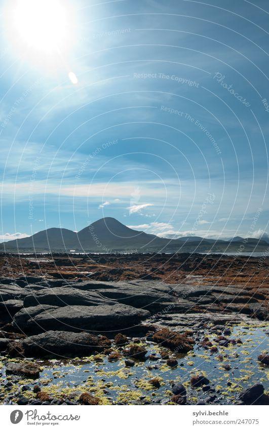 Schottland IV Umwelt Natur Landschaft Urelemente Wasser Himmel Wolken Sonne Sommer Klima Klimawandel Schönes Wetter Pflanze Hügel Berge u. Gebirge Küste Bucht
