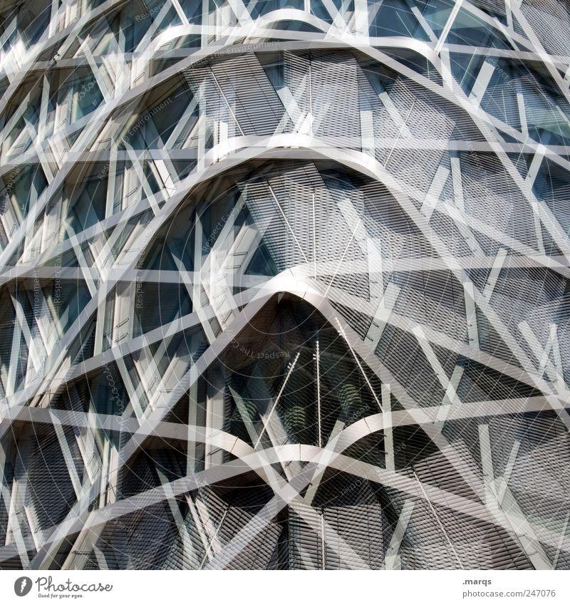 ° Haus Stil Architektur Metall Linie Glas Fassade Design verrückt Perspektive modern Zukunft rund Wandel & Veränderung einzigartig Bauwerk