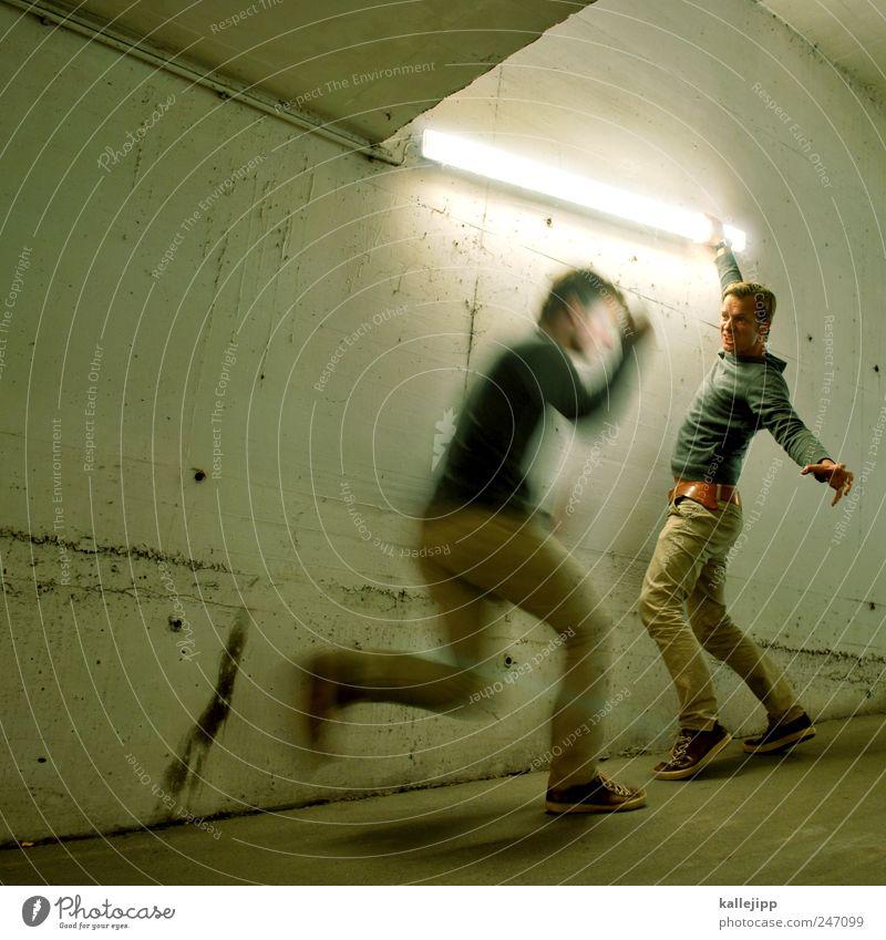 jedi Mensch Erwachsene Leben Lampe maskulin Energiewirtschaft Elektrizität Krieg kämpfen Sportveranstaltung Neonlicht Kampfsport 30-45 Jahre Defensive Angriff