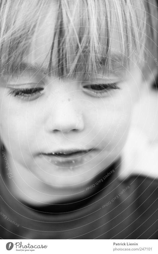 Lausbub Mensch Kind Jugendliche schön Freude Leben Gefühle Kopf Haare & Frisuren träumen Stimmung Denken hell klein maskulin