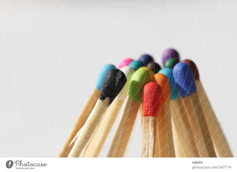die köpfe zusammenstecken Holz Beratung mehrfarbig Partnerschaft Gesellschaft (Soziologie) Idee Inspiration Kommunizieren Team Teamwork Zusammenhalt Streichholz