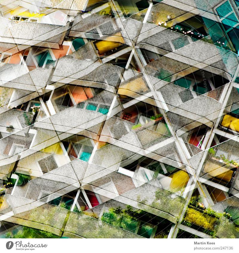 mietspiegel Haus Hochhaus Gebäude Architektur Fassade Balkon chaotisch Design Idee einzigartig innovativ modern Perspektive Stadt Wandel & Veränderung