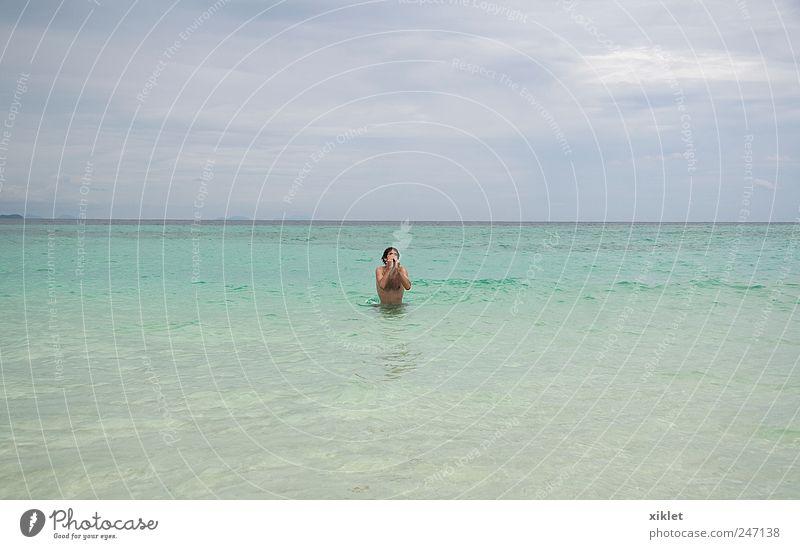 blau grün schön Ferien & Urlaub & Reisen Wolken grau träumen See Schwimmen & Baden Klarheit tauchen durchsichtig Paradies Thailand Neid August