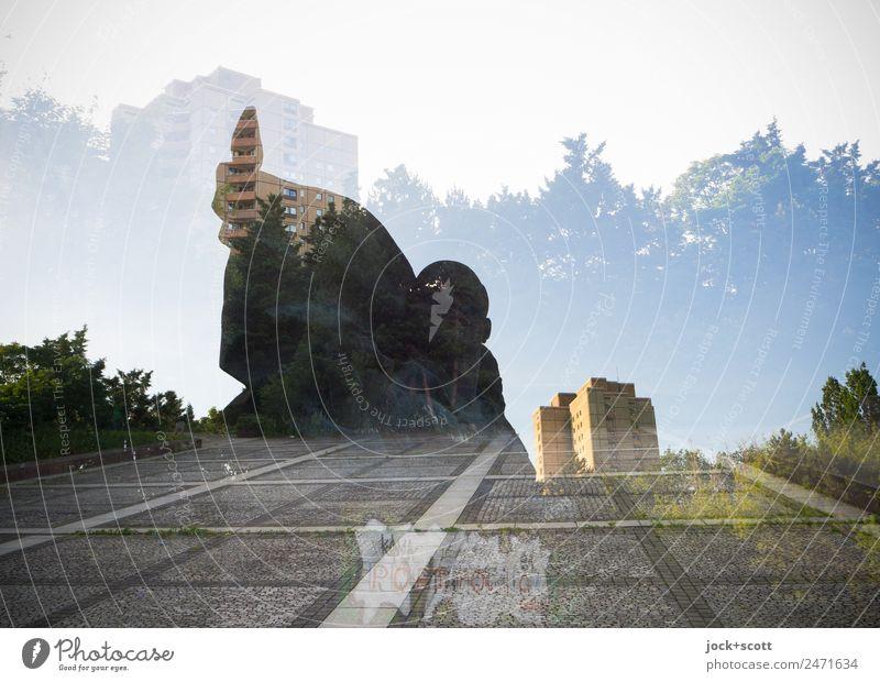 denkbar frontal Stadt Tier Stil Kunst Stimmung Park retro Kraft Kreativität Schönes Wetter Platz groß Vergangenheit Sehenswürdigkeit Denkmal Sightseeing