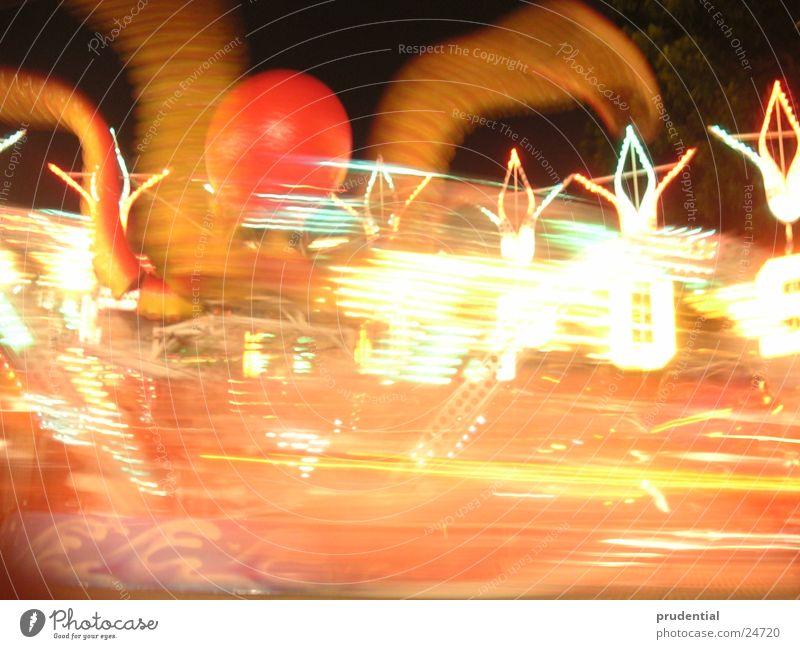 rummelplatz 5 Jahrmarkt Karussell Langzeitbelichtung dunkel Dienstleistungsgewerbe carousel merry-goround roundabout octupus Licht Abend