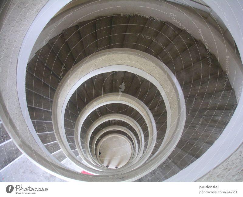 wendeltreppe grau Architektur hoch Treppe Niveau tief Wendeltreppe
