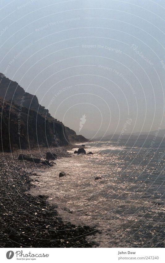 A Year Ago Wasser Ferien & Urlaub & Reisen Meer Einsamkeit Ferne Freiheit Küste Felsen Ausflug Insel Vergänglichkeit Sehnsucht heiß Fernweh Dunst
