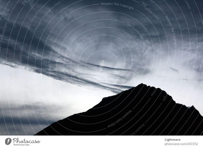 Smoking Hill Himmel Natur blau Ferien & Urlaub & Reisen Wolken Erholung Berge u. Gebirge Gefühle Landschaft grau träumen Stein Luft Kraft Armut Klima