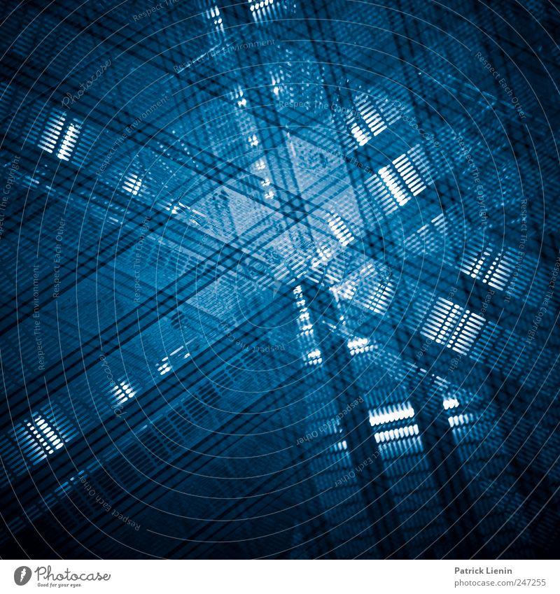 Human Abstract blau kalt Gebäude Erde Kunst modern ästhetisch verrückt außergewöhnlich Zukunft Netzwerk einzigartig Technik & Technologie Bauwerk Tor Tunnel