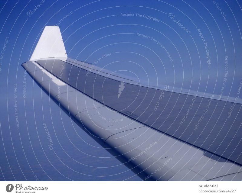 und noch ein flügel Himmel blau Ferien & Urlaub & Reisen Wolken Flugzeug fliegen Flügel