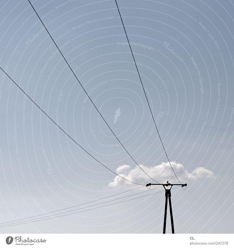 wolkenmast Natur Landschaft Himmel Wolken Sommer Schönes Wetter frei blau ruhig einzigartig Leichtigkeit Elektrizität Strommast Freiheit Telekommunikation