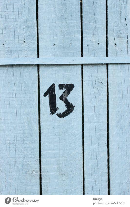 13 authentisch Ziffern & Zahlen Zaun positiv vertikal Fuge Holzwand Strukturen & Formen Schriftzeichen Volksglaube Holzzaun Glückszahl Pechzahl