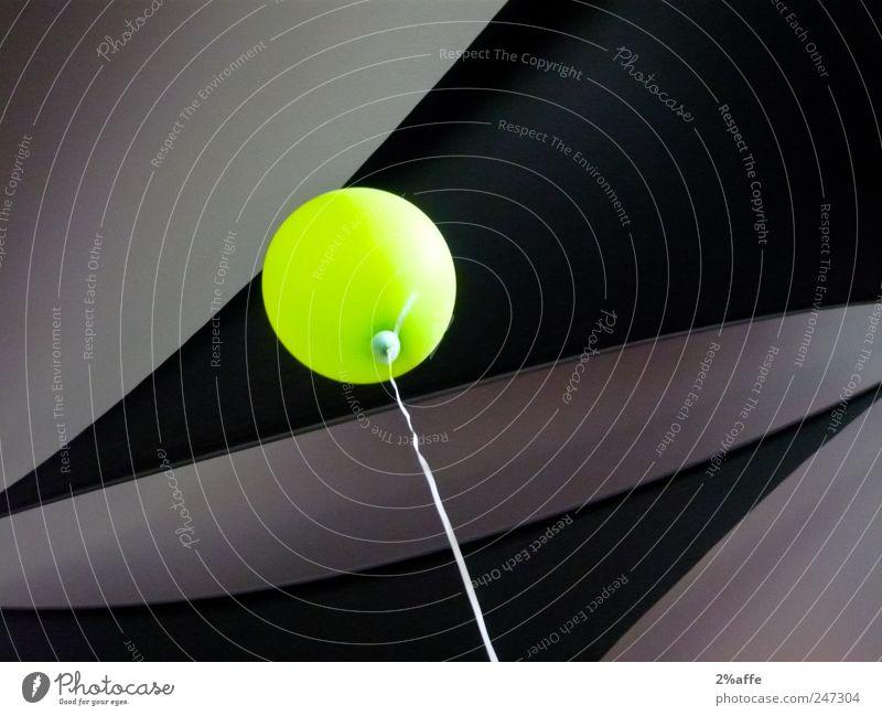 Tschitscheringrün? Design Freude Spielen Kinderspiel Freiheit Veranstaltung Feste & Feiern Spielzeug Luftballon Linie fliegen leuchten ästhetisch rund grau