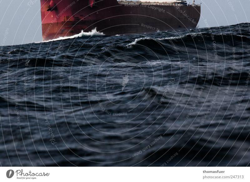 Schiffsanleihen Himmel Wasser Meer Bewegung Wege & Pfade Erde Wellen Horizont Verkehr fahren Güterverkehr & Logistik Nordsee Sturm Verkehrswege Schifffahrt