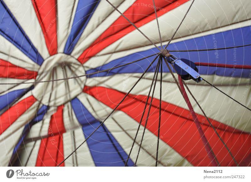 Bleu blanc rouge Freizeit & Hobby Freiheit Luftverkehr Ballone rund blau weiß rot Freude Stoff Stern (Symbol) Kreis Wind Schweben luftig Nylon Fluggerät