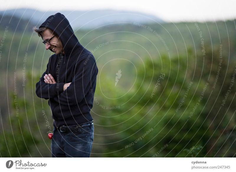 Die Grillprofis: Verantwortung tragen Mensch Natur Jugendliche Erwachsene Wald Ferne Umwelt Landschaft Leben Berge u. Gebirge Freiheit lachen Stil träumen Zufriedenheit Freizeit & Hobby