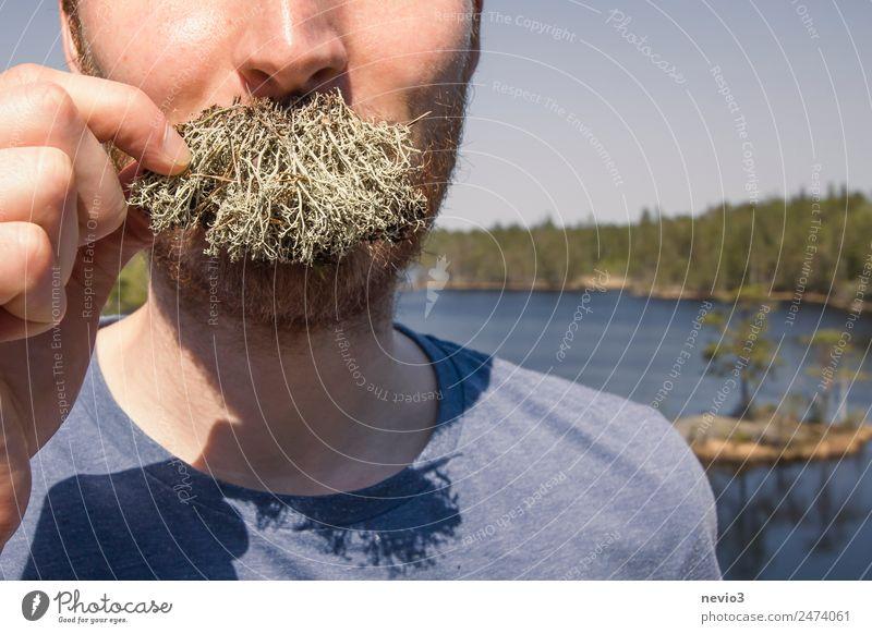 Sich den Bart Flechten Lifestyle Stil Haare & Frisuren Gesicht Mensch maskulin Kopf 1 18-30 Jahre Jugendliche Erwachsene Oberlippenbart authentisch