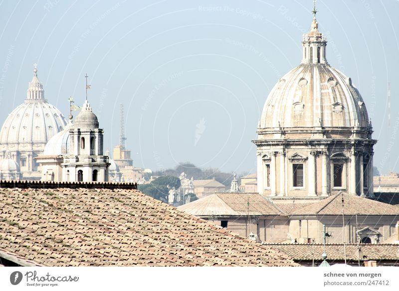 römisch Stadt Architektur Religion & Glaube Italien Kreuz Skyline Stadtzentrum Hauptstadt Rom Sehenswürdigkeit Altstadt