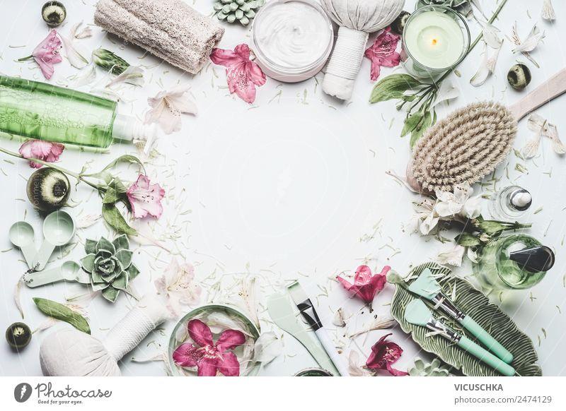 Spa und Wellness Hintergrund Rahmen Natur Pflanze schön Blume Gesundheit Hintergrundbild Lifestyle Gesundheitswesen Stil Design kaufen Beautyfotografie