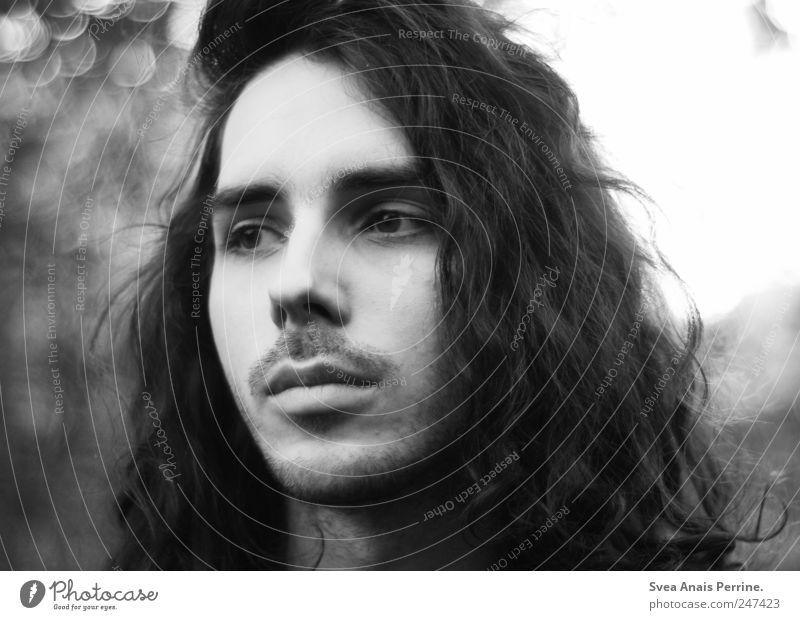 manuel. maskulin Haare & Frisuren Gesicht 1 Mensch 18-30 Jahre Jugendliche Erwachsene schwarzhaarig langhaarig Locken beobachten außergewöhnlich schön