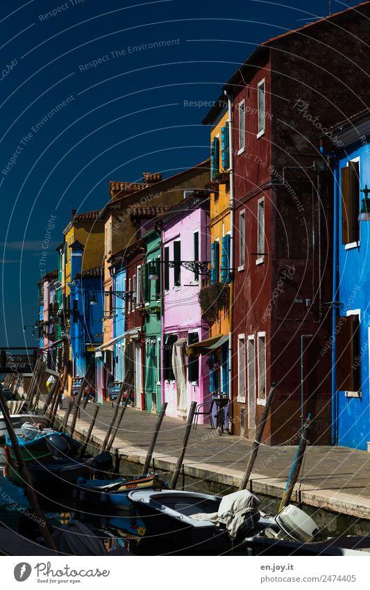 mein Haus, mein Boot Ferien & Urlaub & Reisen Tourismus Ausflug Sightseeing Städtereise Sommerurlaub Häusliches Leben Burano Venedig Italien Europa Dorf