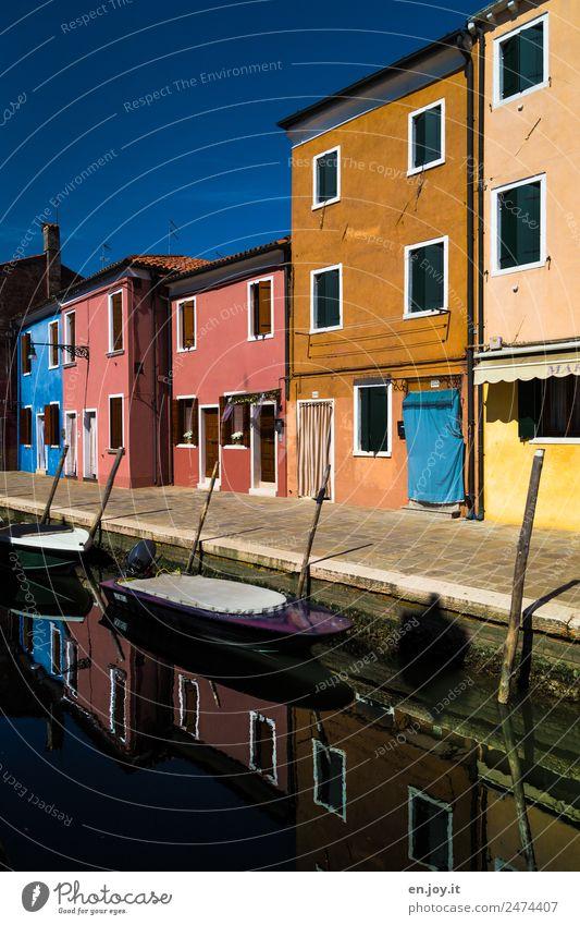 alles noch ruhig Ferien & Urlaub & Reisen Ausflug Sightseeing Städtereise Sommerurlaub Burano Venedig Italien Dorf Fischerdorf Kleinstadt Altstadt Menschenleer