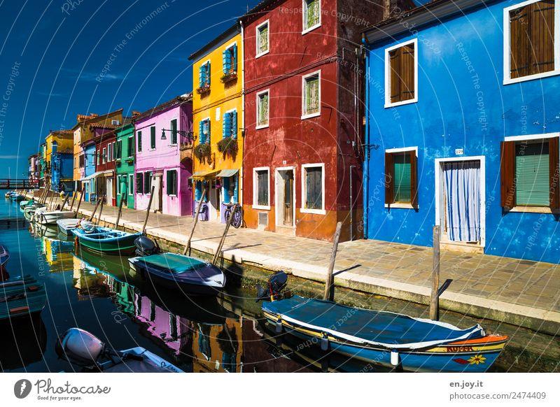 Lebensart | mein Haus mein Boot Ferien & Urlaub & Reisen Ausflug Sightseeing Städtereise Sommer Sommerurlaub Burano Italien Dorf Fischerdorf Hafenstadt Altstadt