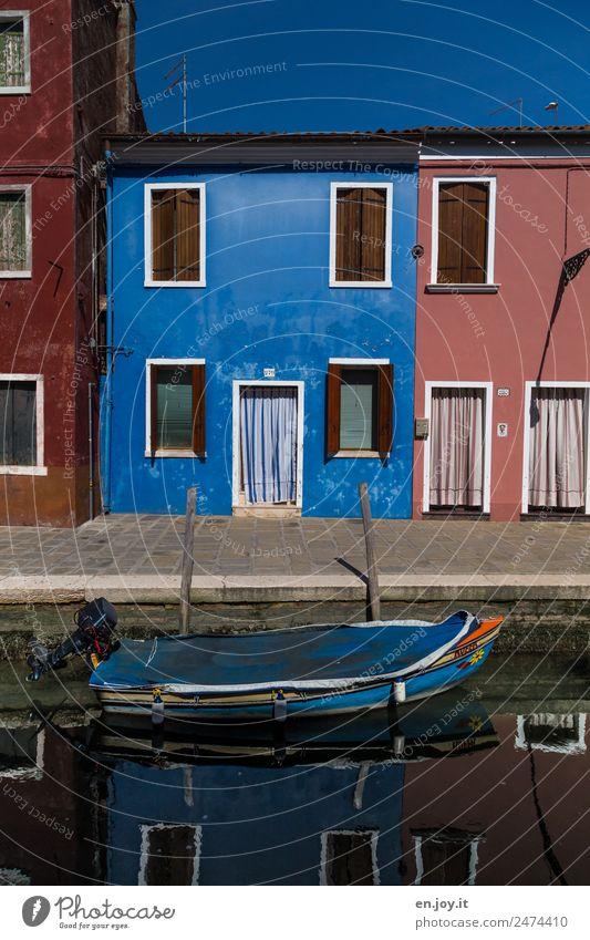 Lieblingsfarbe Ferien & Urlaub & Reisen Ausflug Sightseeing Städtereise Sommerurlaub Häusliches Leben Haus Burano Venedig Italien Dorf Fischerdorf Altstadt