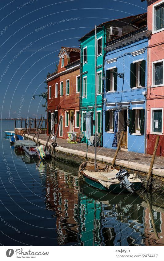 Lands End Ferien & Urlaub & Reisen Tourismus Ausflug Sightseeing Städtereise Sommerurlaub Meer Insel Himmel Burano Venedig Italien Europa Dorf Fischerdorf