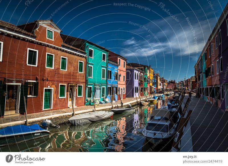 Lebensfreude Ferien & Urlaub & Reisen Tourismus Ausflug Sightseeing Städtereise Sommer Sommerurlaub Burano Venedig Italien Dorf Fischerdorf Kleinstadt