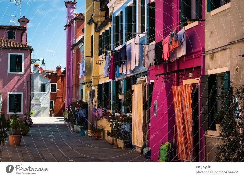 Lebensart | ungleich Ferien & Urlaub & Reisen Sommer Farbe Haus Tourismus Fassade Ausflug Häusliches Leben Wohnung Europa Fröhlichkeit Kreativität Lebensfreude