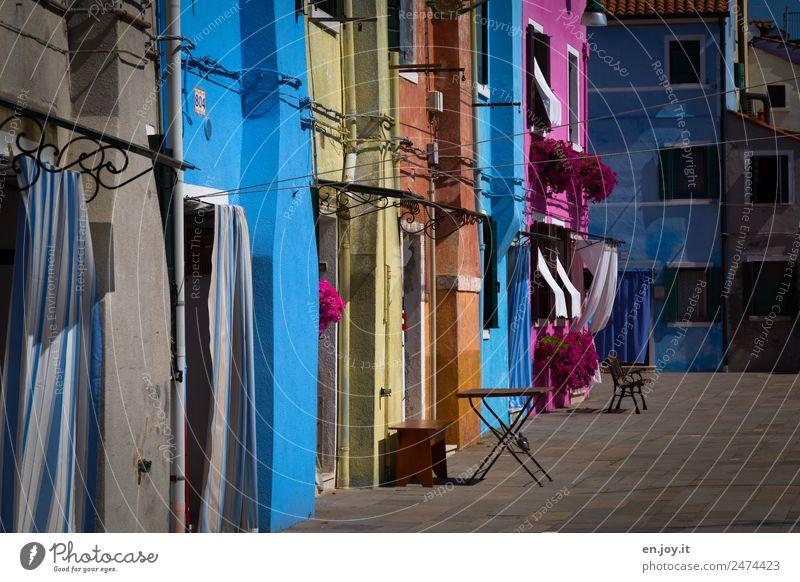 wohnen Ferien & Urlaub & Reisen alt Stadt Haus Umwelt Tourismus Fassade Ausflug Häusliches Leben Freizeit & Hobby Fröhlichkeit Lebensfreude verrückt Italien