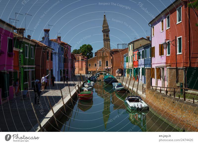 Pisa? Ferien & Urlaub & Reisen Tourismus Ausflug Sightseeing Städtereise Sommer Sommerurlaub Burano Venedig Italien Fischerdorf Kleinstadt Stadt Hafenstadt