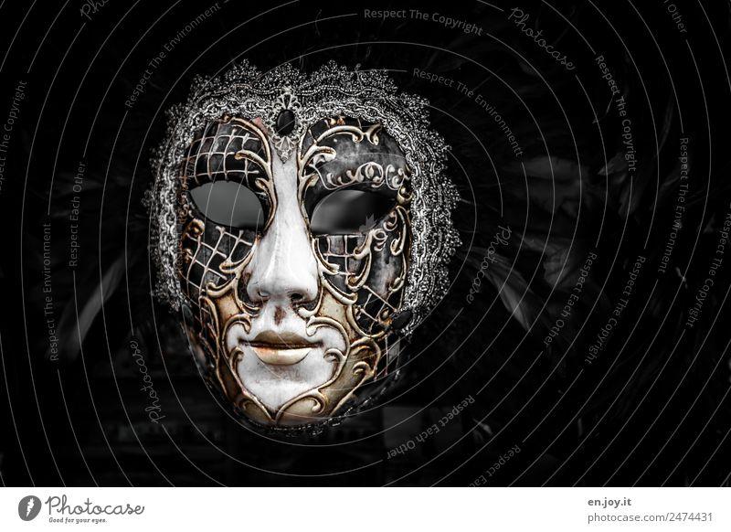 Leer Erotik Freude dunkel schwarz Traurigkeit Kunst Party Feste & Feiern träumen Kultur Feder Lebensfreude Italien Neugier Trauer Maske
