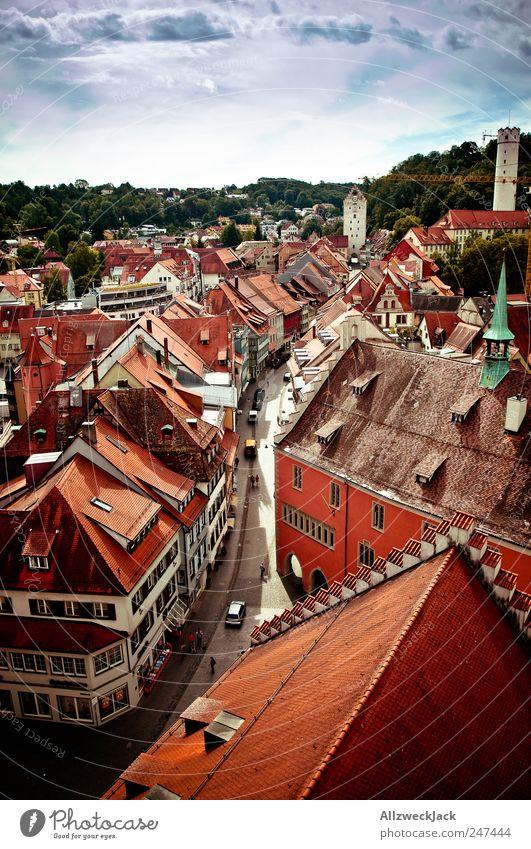 Ravensburger Altstadt alt Stadt schön Haus Gebäude Ausflug Tourismus ästhetisch Dach Stadtzentrum Sehenswürdigkeit Sightseeing Städtereise Baden-Württemberg